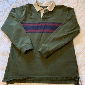 LL Bean Vintage Rugby Shirt L Tall '90's Cotton